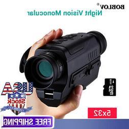 BOBLOV 5x32 Optics 16GB Infrared Night Vision Monocular Bino