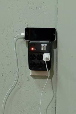 6-Plug Covert Nanny Cam Spy Outlet with Motion Detection