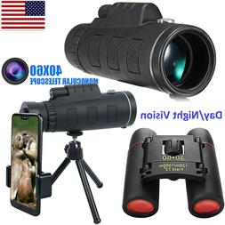 60X Zoom Monoculars Telescope Binoculars HD Day/Night Vision