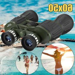 60x50 Day/Night Military Zoom Binoculars Telescopes Optics H