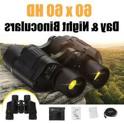 60X60 Zoom Day Night Vision Outdoor Travel HD Binoculars Hun