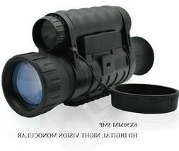 6x50mm Zoom Monocular HD Digital Night Vision LCD Infrared I