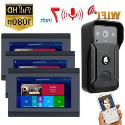 7 Inch Wireless Wifi Smart IP Video Door Phone Intercom Syst