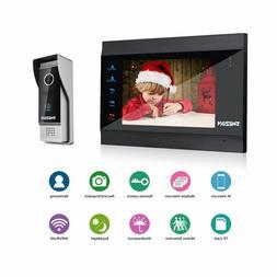 TMEZON 7 Inch Wireless WiFi Smart IP Video Door Phone Interc