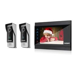 TMEZON 7 Inch Wireless/WIFI Smart IP Video Doorbell Intercom