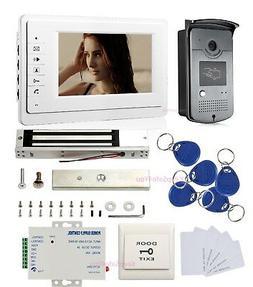 "7"" Video Doorbell Intercom Night Vision Home Security Magnet"