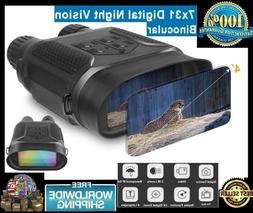7x31 Night Vision Binocular Digital Infrared 1280x720p HD Ca