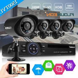 FLOUREON 4CH 1080N DVR 1500TVL IR Night Vision CCTV Camera S