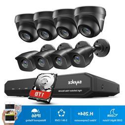 SANNCE 8CH 1080P HDMI 5IN1 DVR HD 1080P CCTV Camera Night Vi