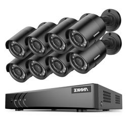 ANNKE 8CH 5MP Lite DVR 1080P CCTV Outdoor Security Camera Sy