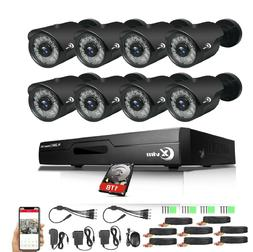 XVIM 8CH HDMI DVR 1080P Night Vision Outdoor CCTV Security C