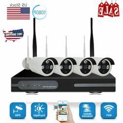 8CH NVR 1080P Wireless IR Night Vision CCTV Video Security C