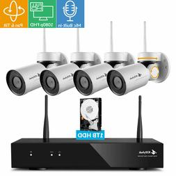 Kittyhok 1080p FHD Pan Tilt Wireless Security Camera System