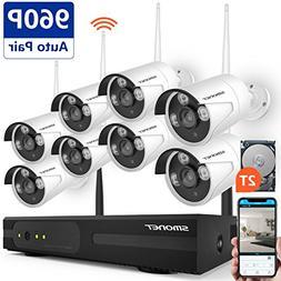 Wireless Security Camera System,SMONET 8CH 960P HD Wireless