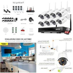 ZOSI 1080P 8CH HD Wireless Security Camera System 8Channel 1
