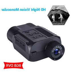 9x21mm Night Vision Monocular With 8GB DVR 850nm 3W Infrared