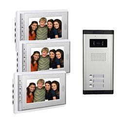 AMOCAM Video Door Phone Intercom System, Wired Doorbell Kits
