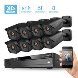 Amcrest 4K 16CH 4TB  Home Security Camera System Surveillanc
