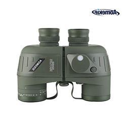 AomekieMarine Military Binoculars forAdults 10x50 Waterp