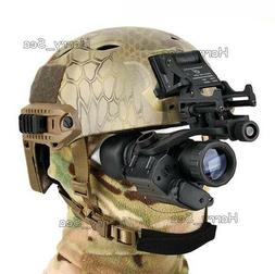 CS Helmet With Infrared Hd Night-vision Monocular Telescope