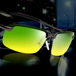 Day and Night Vision Driving Glasses Mens HD Polarized Sungl