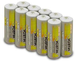 Hitech - 10 Pack High-Capacity Ni-MH Rechargeable 2500mAh Ba