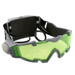 led night vision goggles eye shield green