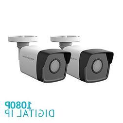 LaView 2 Pack HD 1080P 2MP PoE IP 4mm Indoor/Outdoor Weather