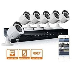 LaView 8 Channel 720P HD DVR Security System with 1TB Survei