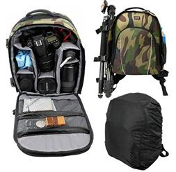 Premium Quality, Camouflage Water-Resistant Rucksack with Cu