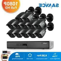 SANNCE 16CH 1080N HD Video DVR 12x IR Night Vision CCTV Secu