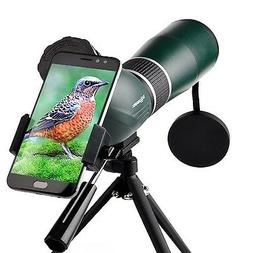 Solomark 15-45x60 Waterproof Spotting Scope with Tripod and