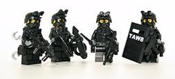 Swat Team Police Squad - Modern Brick Warfare Custom Minifig