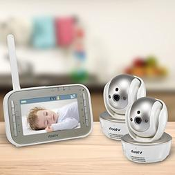 VTech VM343-2 Video Baby Monitor with Automatic Infrared Nig