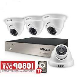 ZOSI 8CH FULL TRUE 1080P HD-TVI DVR Recorder HDMI With 4X 19