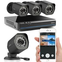 Zmodo 4 Channel White sPoE Security Camera System with 4 Ind
