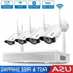 A-ZONE 8CH 1080P NVR Wifi Wireless Security IP Camera System