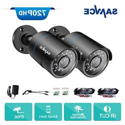 SANNCE 2 Pack of AHD 720P Security Bullet Cameras with Super