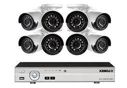 Lorex 16-Channel HD Analog DVR with 2TB HDD, 8 1080p Cameras