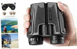 APEMAN 12x25 Compact Folding Binoculars for Adults Kids, Pro