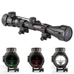Aukmont 3-9X40 Red & Green Rifle Airgun Scope Night Vision S