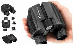 Aurosports 10x25 Folding High Powered Compact Binoculars for