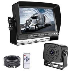 Backup Camera with Monitor, LASTBUS Wide View Night Vision H