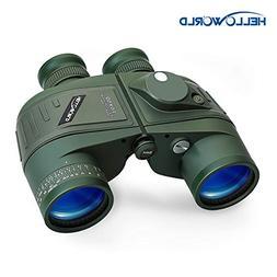 World Optical Binoculars 10X50 Marine Military Binoculars wi