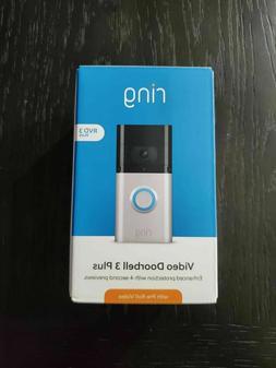 Brand New Ring Video Doorbell 3 Plus - Satin Nickel/Venetian