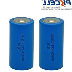 2 Pack C Size 26500 3.6V 9000mAh Lithium Battery