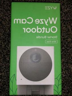 WYZE CAM OUTDOOR Wire-Free Starter Bundle, Security Camera,
