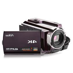 Camcorders, Ablue 4K Ultra-HD Portable 30FPS WIFI Digital Vi