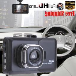 Car DVR Video Recorder Night Vision G Sensor Camera 1080P HD