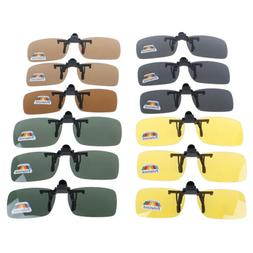 Clip-on Polarized Day Night Vision Flip-up Lens Driving Glas